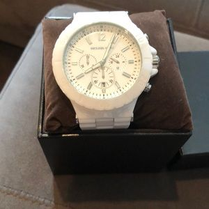 MICHAEL Michael Kors white ceramic watch